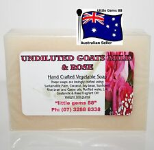 HANDMADE NATURAL SOAP * Goatsmilk & Rose * 100GRAM * Post 4 bars for $8