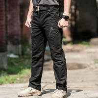 Waterproof Tactical Cargo pants Mens Casual Pants Trousers Combat SWAT Army IX9