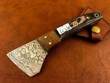 Handmade Damascus Steel Saddler-Skiver-Leather Cutter-Leather Sheath-LC248