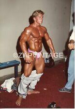 Vtg 1980's Body Builder Muscle Beefcake Speedo Bulge Gay Interest Photo #1144