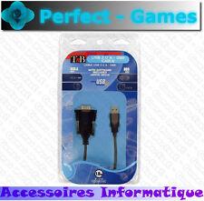 Cable adaptateur convertisseur USB 2.0 vers connecteur DB9 série mâle T'nB
