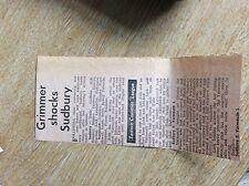 m6-4 ephemera 1967 football report sudbury 0 yarmouth 1 grimmer scores