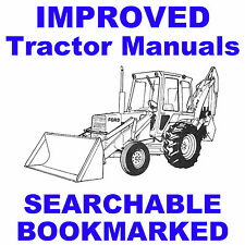 Ford 550 & 555 Tractor Backhoe Loader REPAIR WORKSHOP SHOP SERVICE MANUAL CD
