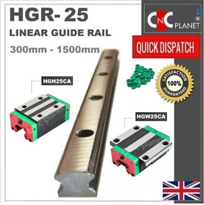 HGR SERIES 25mm LINEAR BEARING GUIDE SLIDE RAIL CARRIAGE BLOCK HGW25CA HGH25CA