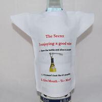 Novelty Bottle  / miniture T-Shirt birthday gift for any wine lover