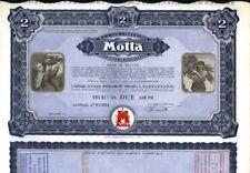 MILANO ANNI '60/'70  AZIONE  ORIGINALE DELLA MITICA  MOTTA  INDUSTRIA DOLCIARIA