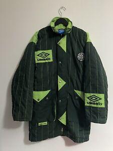 Rare Vintage Celtic Football Club Managers Jacket Padded Coat 1995-95
