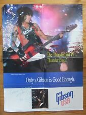 1993 NIKKI SIXX Gibson USA Thunderbird IV Bass Guitar Poster MOTLEY CRUE