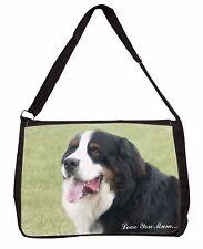 Bernese Mountain Dog 'Love You Mum' Large Black Laptop Shoulder Ba, AD-BER5lymSB