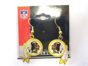 Washington Redskins Orecchini Pendente Orecchini NFL Calcio