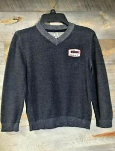 Orchestra Boy's V-Neck Gray Long Sleeve 100% Cotton Ohio Patch Size 8 Pre-owned