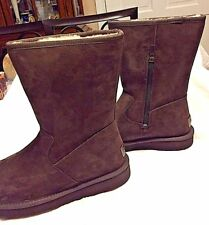 Ugg W Calvin 1016592 Chocolate SIZE 7, Water-Resistant Suede BNWB ($180.00)