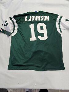 Keyshawn Johnson New York Jets Jersey #19 Champion Authentic Apparel Size 52 xl