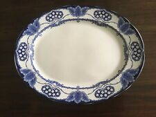 Antique English York Late Mayers Porcelain Blue and White Platter