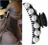 Haarklammer Haargreifer mit Perlen und Strass Haarspange Pferdeschwanz Perlen