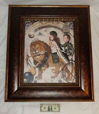 """Framed Surreal Ralph Wolfe Cowan """"Imperceptible"""" Giclee On Canvas Print 28/250"""