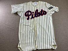 Vintage Peninsula Pilots Game Worn Jersey Minor League Baseball #11 hat shirt