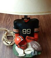 Cleveland Browns Football Lamp 99 Jersey Helmet Pennant NFL VTG Wilson Vintage