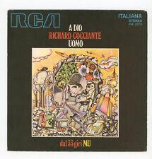 "RICHARD (RICCARDO) COCCIANTE : A Dio / Uomo - 7"" ITALIA 1972"