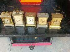 5 Beautiful Vintage Brass Carriage Clocks