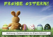 "Postkarte, Osterkarte, ""Achtung: Ostern kann zu Eiern führen"""