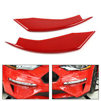 Bumper Vent Winglets Fog Light Canard Trim For Ford Mustang 2018-2019 A5