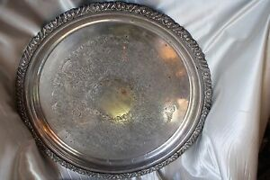Vintage 1960 Hecworth Reproduction Old Sheffield Silverplate Serving Dish / Tray