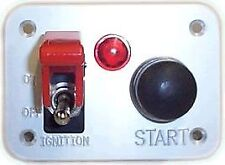 Switch Panel for race rally bouton poussoir start/Rocker Switch & Lampe témoin rouge