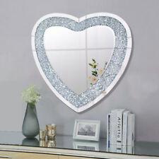 Dressing Table Wall Mounted Cosmetic Vanity Mirror Diamond Crush Fireplace Decor