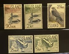 Iceland Series 1959-1960 Salmon & Birds - Complete - MNH - XF/S