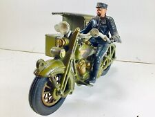 Original 1928 Cast Iron Hubley Police Harley Davidson  Parcel Post Motorcycle
