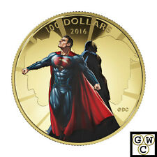 2016 Gold 'Batman v Superman; Dawn of Justice(TM)' Colorized $100 Proof (17615)