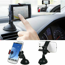Black Universal Car Mount Holder Suction Cup Kit For Mobile Phone GPS PDA New