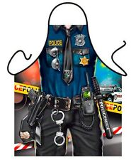 Policeman Police Officer men kitchen apron gag gift BBQ grilling Polyester ITATI