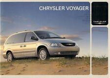 Chrysler Voyager & Grand Voyager 2002-03 UK Market Brochure SE LX Limited XS