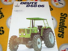 Deutz D 68 06 Tractor Dealer's Brochure
