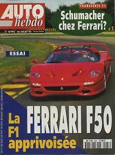 AUTO HEBDO n°993 du 26 Juillet 1995 FERRARI F50 MIKA SALO