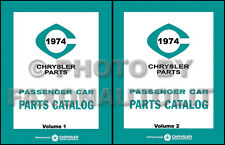 1974 Dodge Parts Catalog Challenger Charger Swinger Demon Dart Monaco Polara