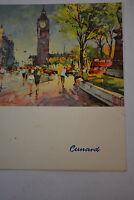 R.M.S. QUEEN MARY Luncheon MENU Aug.10,1961 Cunard line
