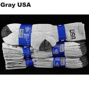 4 12 PACK Men Women USA Crew Socks Athletic Cotton Sports Casual 9-11 10-13