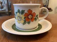 Mid-Century 1945-1950 Winterling Bavaria Roslau  Floral Cup & Saucer