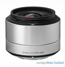 Sigma 19mm f2,8 DN Objektiv MFT silber Micro Four Thirds MFT Objektivbajonett
