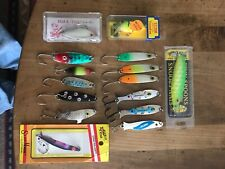 Fishing Lures Lot Of 15 Salmon,trout,Walleye.4 New In Box 11 Lightly Used