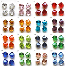 Beads 4mm 6mm Spacer Bicone Faceted Wholesale Multiple Loose Crystal Glass