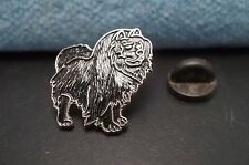 Black Chow Chow Dog Metal Tie Tac Hat Pin