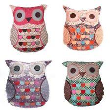 Patchwork Owl Vintage/Retro Decorative Cushions