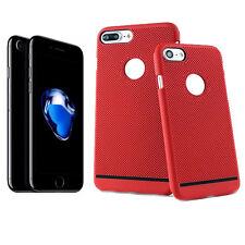 Coque Arrière Protection Rouge Perforée Nid d'Abeille pour Apple iPhone 7 Plus