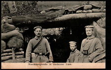 AB2008  WW1  AUTOMATIC MACHINE GUN GERMAN ARMY WEST FRONT POSTCARD