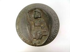 Antique Metal Lead Babbitt Genuine National Lead Company Advertising Paperweight