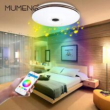 MUMENG LED Deckenlampe,32Watt Dimmbar Deckenleuchte Musik Bluetooth Lautsprecher